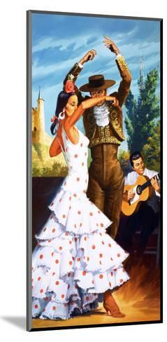 The Flamenco from Spain-Robert Brook-Mounted Giclee Print