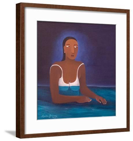 Woman in Water, 2004-Laura James-Framed Art Print