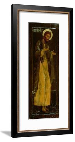 St. John the Baptist, Russian Icon, 17th Century--Framed Art Print