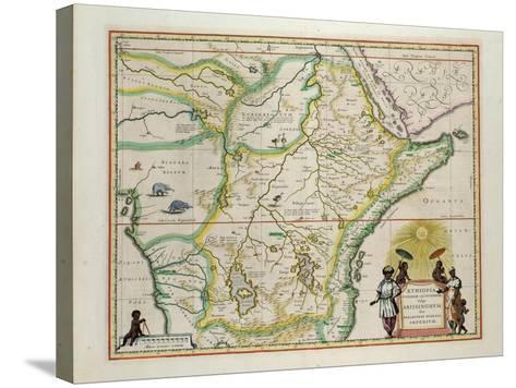 "Map of Ethiopia Showing Five African States, c.1690 G. Blaeu's ""Grooten Atlas"" of 1648-65--Stretched Canvas Print"