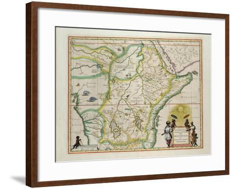 "Map of Ethiopia Showing Five African States, c.1690 G. Blaeu's ""Grooten Atlas"" of 1648-65--Framed Art Print"