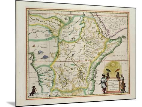 "Map of Ethiopia Showing Five African States, c.1690 G. Blaeu's ""Grooten Atlas"" of 1648-65--Mounted Giclee Print"