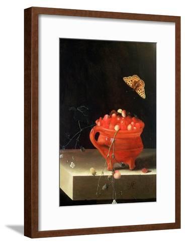 Pot of Wild Strawberries-Adrian Coorte-Framed Art Print