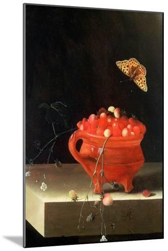 Pot of Wild Strawberries-Adrian Coorte-Mounted Giclee Print