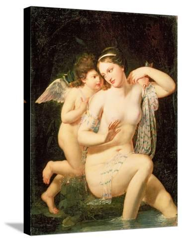 Venus and Cupid-N. De Courtaille-Stretched Canvas Print