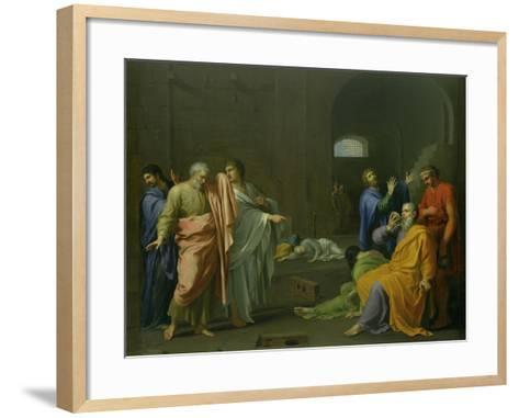 The Death of Socrates-Charles Alphonse Dufresnoy-Framed Art Print