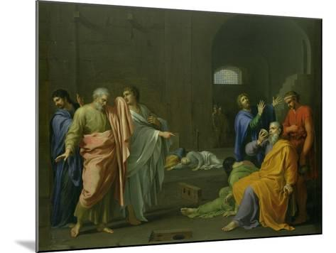 The Death of Socrates-Charles Alphonse Dufresnoy-Mounted Giclee Print