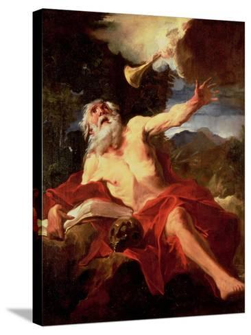 Vision of St. Jerome-Pierre Louis Cretey Or Cretet-Stretched Canvas Print