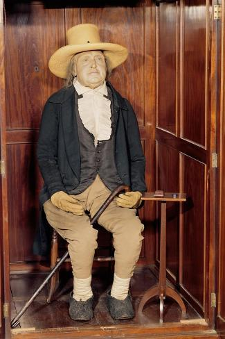 Embalmed Body of Jeremy Bentham as Exhibited at University College--Stretched Canvas Print