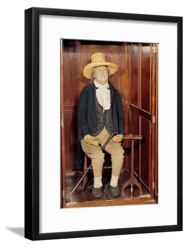 Embalmed Body of Jeremy Bentham as Exhibited at University College--Framed Art Print