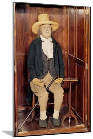 Embalmed Body of Jeremy Bentham as Exhibited at University College--Mounted Giclee Print