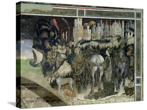 St. George Rescuing the Princess of Trebizond, c.1433-38-Antonio Pisani Pisanello-Stretched Canvas Print