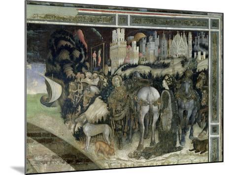 St. George Rescuing the Princess of Trebizond, c.1433-38-Antonio Pisani Pisanello-Mounted Giclee Print