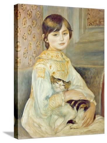 Julie Manet with Cat, 1887-Pierre-Auguste Renoir-Stretched Canvas Print