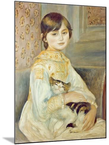 Julie Manet with Cat, 1887-Pierre-Auguste Renoir-Mounted Giclee Print
