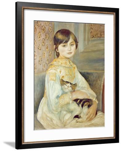 Julie Manet with Cat, 1887-Pierre-Auguste Renoir-Framed Art Print