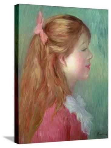 Young Girl with Long Hair in Profile, 1890-Pierre-Auguste Renoir-Stretched Canvas Print
