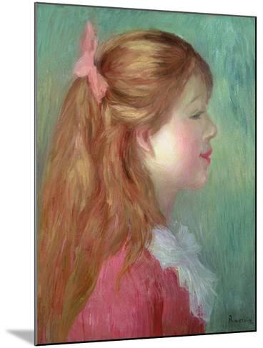 Young Girl with Long Hair in Profile, 1890-Pierre-Auguste Renoir-Mounted Giclee Print