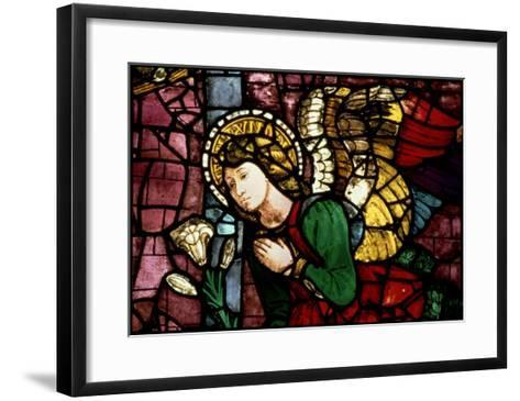 The Annunciation, Angel Gabriel by Fra Paolo Di Mariotto Da Gambassi, Domenico Ghirlandaio--Framed Art Print