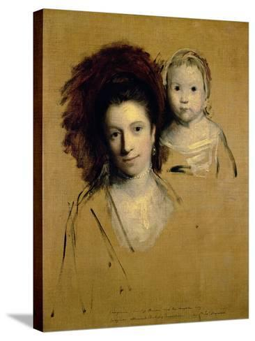Georgiana, Countess Spencer and Her Daughter Lady Georgiana, Afterwards Duchess of Devonshire, 1759-Sir Joshua Reynolds-Stretched Canvas Print