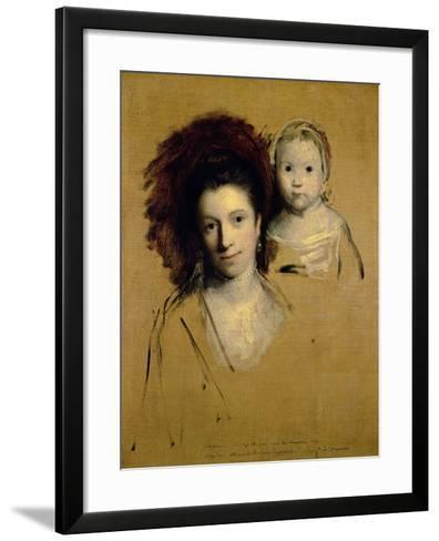 Georgiana, Countess Spencer and Her Daughter Lady Georgiana, Afterwards Duchess of Devonshire, 1759-Sir Joshua Reynolds-Framed Art Print