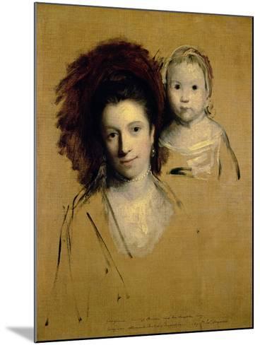 Georgiana, Countess Spencer and Her Daughter Lady Georgiana, Afterwards Duchess of Devonshire, 1759-Sir Joshua Reynolds-Mounted Giclee Print