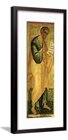 Holy Apostle Peter, Russian Icon, Deesis of the Church of St. Vlasius, Novgorod School, 15th Cen--Framed Art Print
