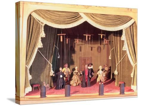Puppet Theatre with Marionettes, 18th Century--Stretched Canvas Print