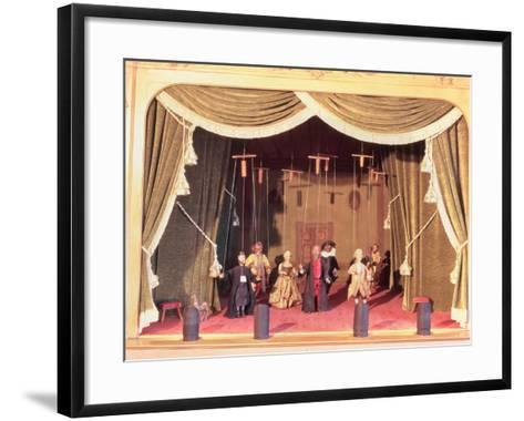 Puppet Theatre with Marionettes, 18th Century--Framed Art Print