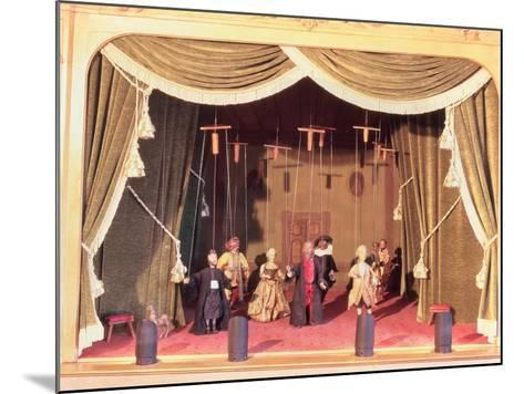 Puppet Theatre with Marionettes, 18th Century--Mounted Giclee Print