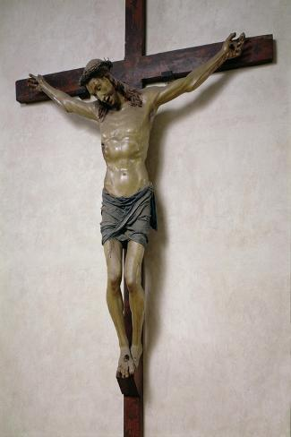 Crucifix- Baccio Da Montelupo-Stretched Canvas Print