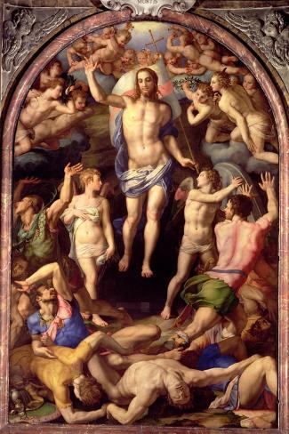 The Resurrection, 1550-Agnolo Bronzino-Stretched Canvas Print