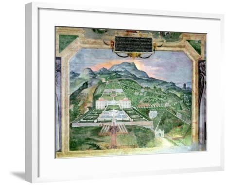 The Villa Lante, Fresco in the Loggia, c.1574-76- Raffaellino Da Reggio-Framed Art Print