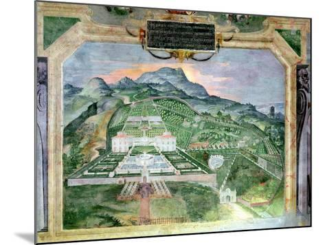 The Villa Lante, Fresco in the Loggia, c.1574-76- Raffaellino Da Reggio-Mounted Giclee Print