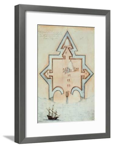 Entrenchments, Puerto Rico-John White-Framed Art Print
