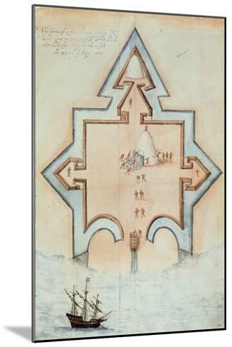 Entrenchments, Puerto Rico-John White-Mounted Giclee Print