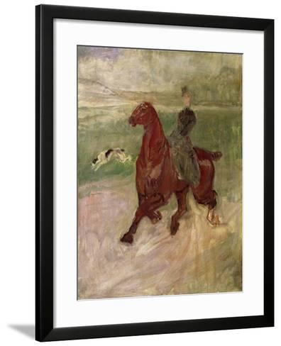 The Amazon, 1882-Henri de Toulouse-Lautrec-Framed Art Print