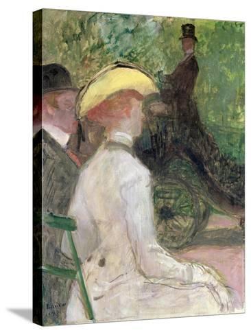 On the Bois de Boulogne, 1901-Henri de Toulouse-Lautrec-Stretched Canvas Print