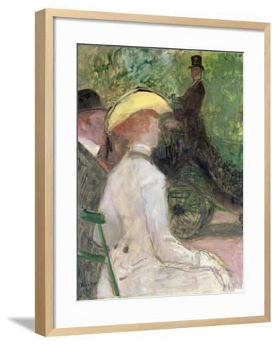 On the Bois de Boulogne, 1901-Henri de Toulouse-Lautrec-Framed Art Print
