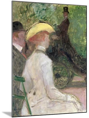 On the Bois de Boulogne, 1901-Henri de Toulouse-Lautrec-Mounted Giclee Print