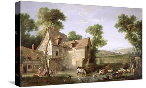 The Farm, 1750-Jean-Baptiste Oudry-Stretched Canvas Print