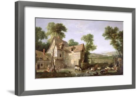 The Farm, 1750-Jean-Baptiste Oudry-Framed Art Print