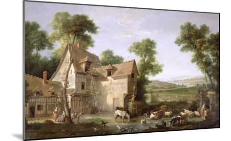 The Farm, 1750-Jean-Baptiste Oudry-Mounted Giclee Print
