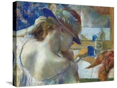 In Front of the Mirror, 1889-Edgar Degas-Stretched Canvas Print