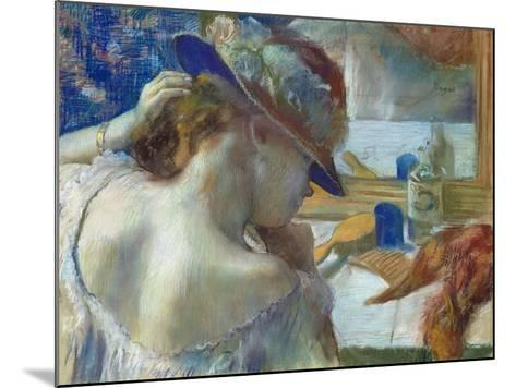 In Front of the Mirror, 1889-Edgar Degas-Mounted Giclee Print