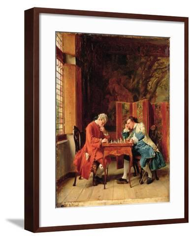 The Chess Players, 1856-Jean-Louis Ernest Meissonier-Framed Art Print