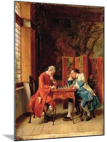 The Chess Players, 1856-Jean-Louis Ernest Meissonier-Mounted Giclee Print