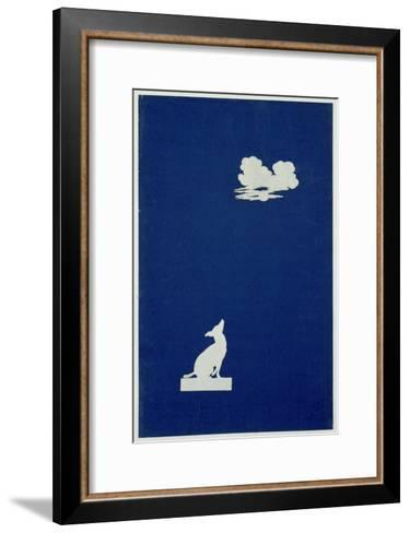 Dog Howling at the Moon-Philipp Otto Runge-Framed Art Print