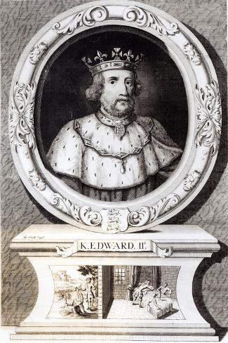Portrait of King Edward II--Stretched Canvas Print