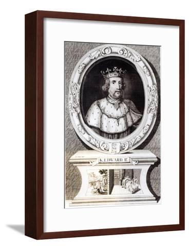 Portrait of King Edward II--Framed Art Print